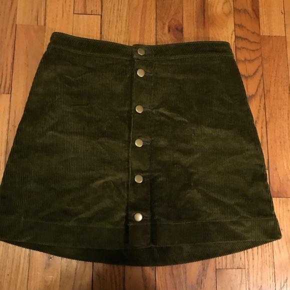 48055f319f American Apparel Skirts   Dark Green Corduroy Skirt   Poshmark